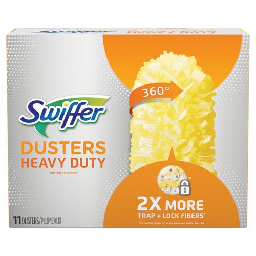 Heavy Duty Dusters Refill, Dust Lock Fiber, 2 x 6, Yellow, 33/Carton