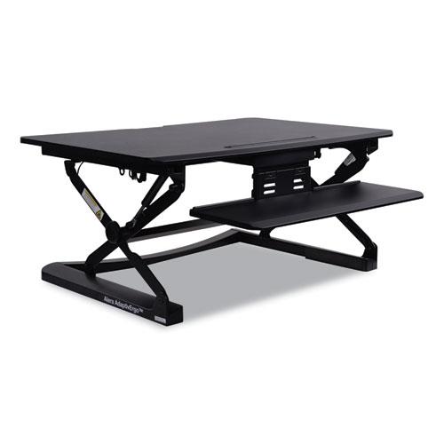 "Alera® AdaptivErgo Sit Stand Lifting Workstation, 26.75"" x 31"" x 5.88"" to 19.63"", Black"