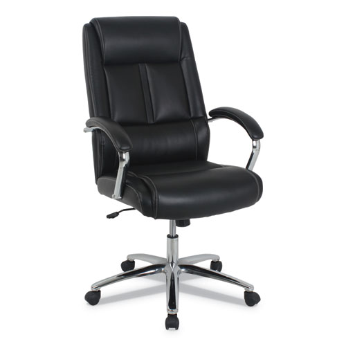 kathy ireland OFFICE by Alera Stonebriar High-Back Executive Office Chair, Up to 275 lbs., Black Seat/Back, Chrome Base