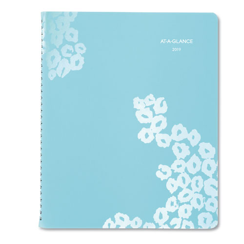 Wild Washes Weekly/Monthly Planner, 8 1/2 x 11, Floral, Animal, 2019