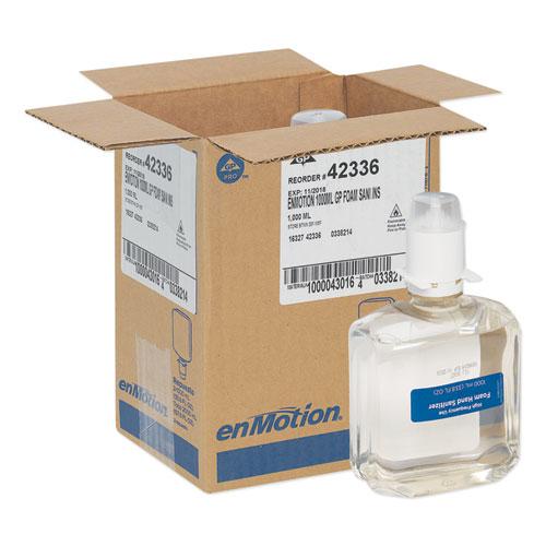 Georgia Pacific® Professional GP enMotion High-Frequency-Use Foam Sanitizer Dispenser Refill, Fragrance-Free, 1,000 mL, 2/Carton