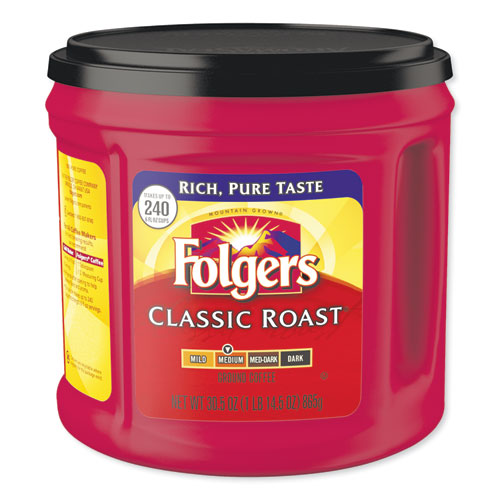 Coffee, Classic Roast, 30 1/2 oz Canister, 6/Carton, 294/Pallet