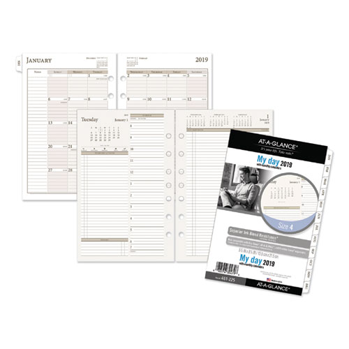 Two-Pages-Per-Day Planning Pages, 5 1/2 x 8 1/2, 2019