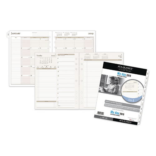 Two-Pages-Per-Day Planning Pages Refill, 8 1/2 x 11, 2019