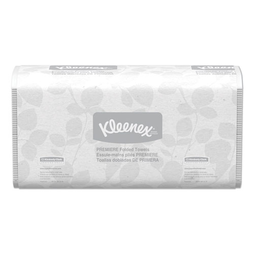 Kleenex® Premiere Folded Towels, 7 4/5 x 12 2/5, White, 120/Pack, 25 Packs/Carton