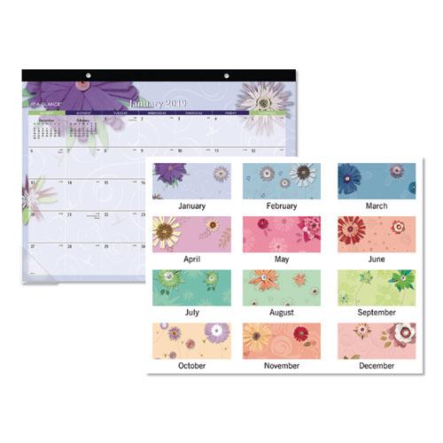 Paper Flowers Desk Pad, 22 x 17, 2019