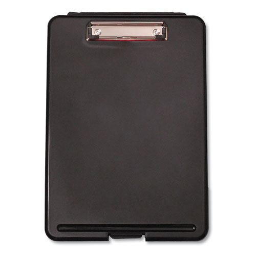 Storage Clipboard, 1/2 Capacity, 8 1/2 x 11, Black