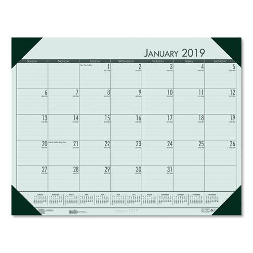 1e45b9923f9 Recycled EcoTones Woodland Green Monthly Desk Pad Calendar