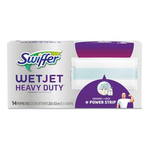 "WetJet System Refill Cloths, 11.3"" x 5.4"", Heavy Duty, White, 14/Box, 4 BX/CT   by Plexsupply"