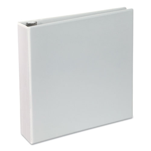 Deluxe Round Ring View Binder, 3 Rings, 2 Capacity, 11 x 8.5, White
