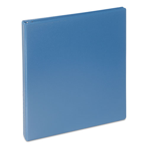 Deluxe Round Ring View Binder, 3 Rings, 1 Capacity, 11 x 8.5, Light Blue