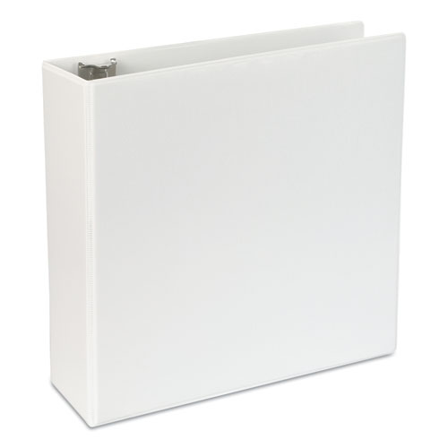 "Slant-Ring View Binder, 3 Rings, 4"" Capacity, 11 x 8.5, White 