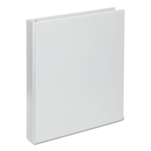 Deluxe Round Ring View Binder, 3 Rings, 1 Capacity, 11 x 8.5, White