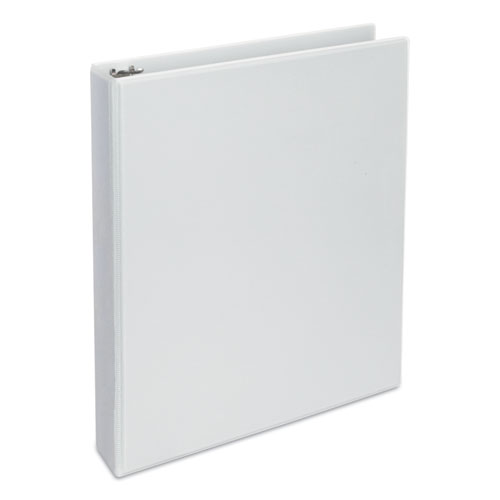 Deluxe Round Ring View Binder, 3 Rings, 1.5 Capacity, 11 x 8.5, White