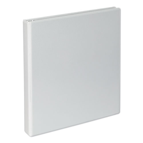 Slant-Ring View Binder, 3 Rings, 1 Capacity, 11 x 8.5, White, 4/Pack