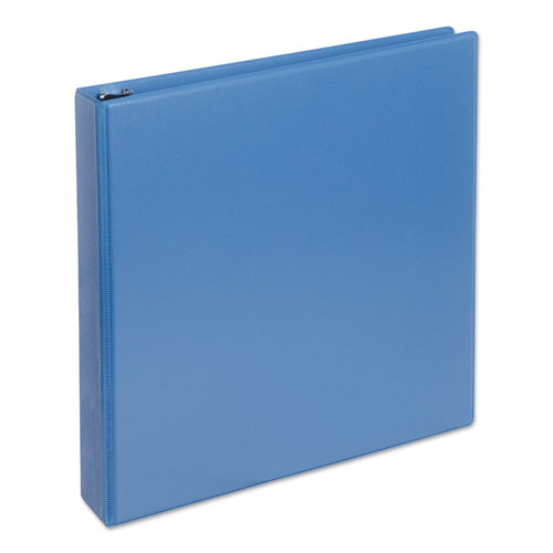 Deluxe Round Ring View Binder, 3 Rings, 1.5 Capacity, 11 x 8.5, Light Blue