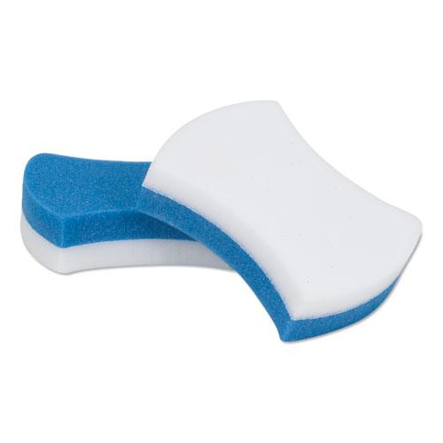 Scotch-Brite™ PROFESSIONAL Easy Erasing Pad 4004, 2 4/5 x 4 1/2 x 1 1/5, Blue/White, 4 per Pack