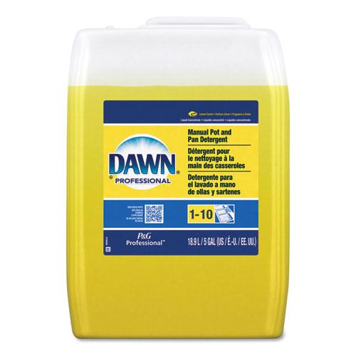 Manual Pot/Pan Dish Detergent, Lemon Scent, Liquid, 5 gal Pail