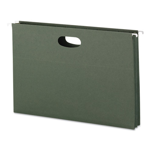 Hanging Pockets with Full-Height Gusset, Legal Size, Standard Green, 25/Box