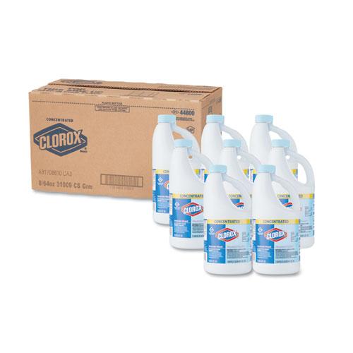 Clorox® Concentrated Germicidal Bleach, Regular, 64oz Bottle, 8/Carton