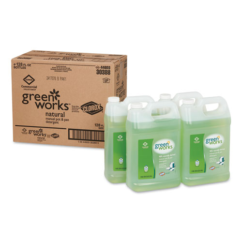 Manual Pot and Pan Dishwashing Liquid, 128 oz Bottle, 4/Carton