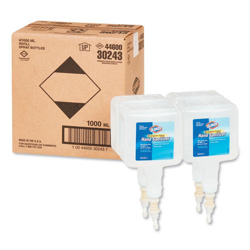 Touchless Dispenser Refill Liquid Hand Sanitizer, 1 Liter, 4/Carton