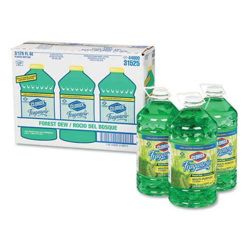 Fraganzia Multi-Purpose Cleaner, Forest Dew Scent, 175 oz Bottle, 3/Carton