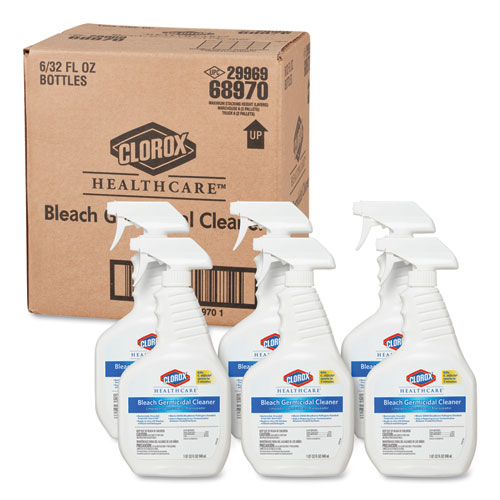 Clorox® Healthcare® Bleach Germicidal Cleaner, 32oz Spray Bottle, 6/Carton