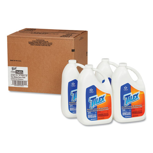 Disinfects Instant Mildew Remover, 128 oz Refill Bottle, 4/Carton