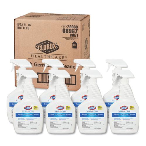Bleach Germicidal Cleaner, 22  oz Spray Bottle, 8/Carton | by Plexsupply