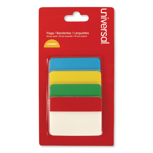 Self Stick Index Tab, 2, Assorted Colors, 40/Pack
