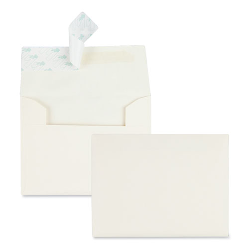 Greeting Card/Invitation Envelope, A-2, Square Flap, Redi-Strip Closure, 4.38 x 5.75, Ivory, 100/Box