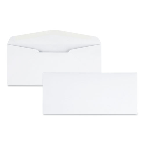 Laser  Inkjet White Business Envelope, 10, Bankers Flap, Gummed Closure, 4.13 x 9.5, White, 500/Box