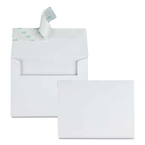 Greeting Card/Invitation Envelope, A-2, Square Flap, Redi-Strip Closure, 4.38 x 5.75, White, 100/Box