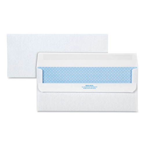 Redi-Seal Envelope, 10, Commercial Flap, Redi-Seal Closure, 4.13 x 9.5, White, 500/Box
