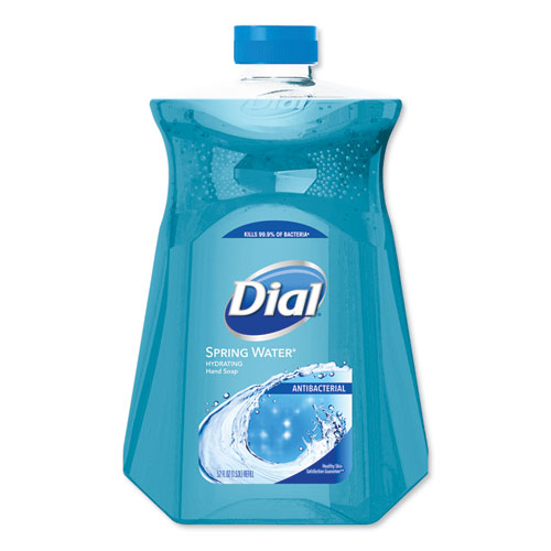 Dial® Antimicrobial Liquid Hand Soap, Spring Water, 52 oz Bottle