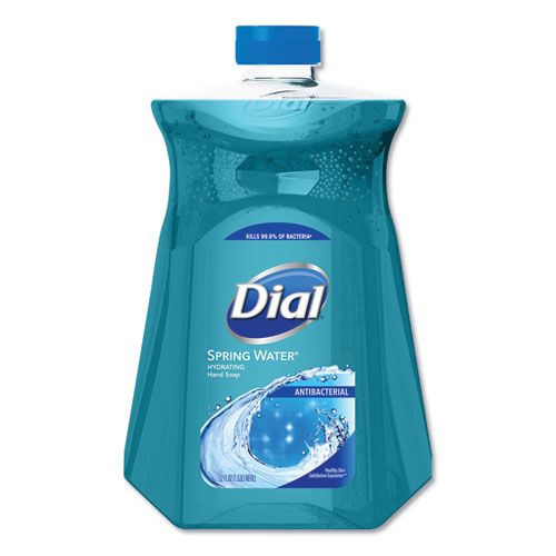 Dial® Antimicrobial Liquid Hand Soap, Spring Water, 52 oz Bottle, 3/Carton