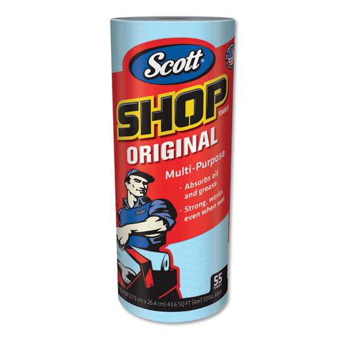 Scott® Shop Towels, Standard Roll, 10.4 x 11, Blue, 55/Roll, 30 Rolls/Carton