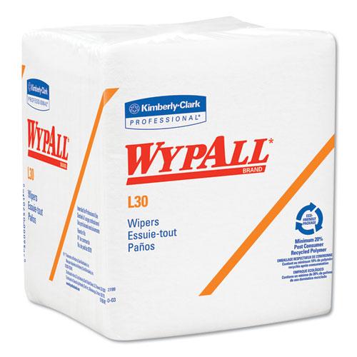 WypAll® L30 Towels, POP-UP Box, 10 x 9 4/5, White, 120/Box, 10 Boxes/Carton