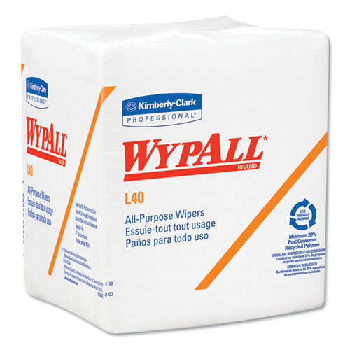 WypAll® L40 Towels, POP-UP Box, White, 10 4/5 x 10, 90/Box, 9 Boxes/Carton