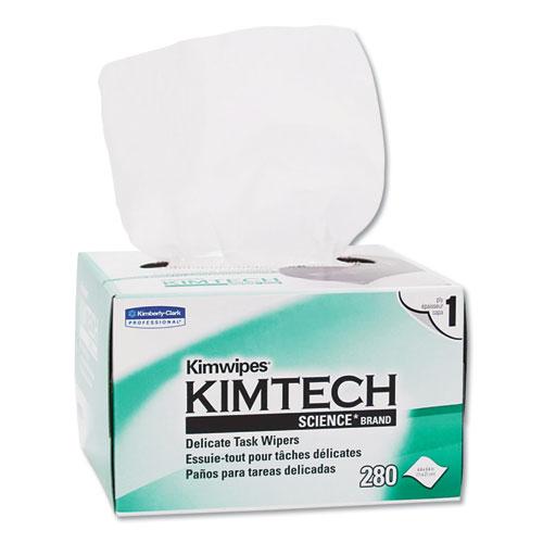 Kimtech™ Kimwipes Delicate Task Wipers, 1-Ply, 4 2/5 x 8 2/5, 280/Box, 30 Boxes/Carton