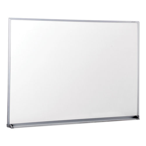 Dry Erase Board, Melamine, 48 x 36, Satin-Finished Aluminum Frame | by Plexsupply