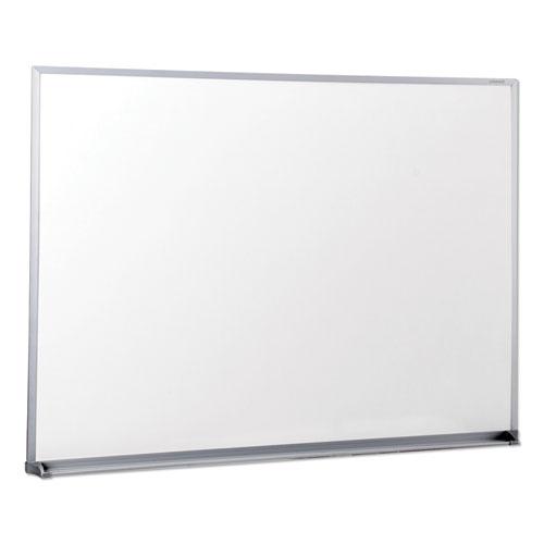 Dry Erase Board, Melamine, 48 x 36, Satin-Finished Aluminum Frame | by Plexsupply