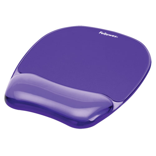 """Gel Crystals Mouse Pad with Wrist Rest, 7.87"""" x 9.18"""", Purple 