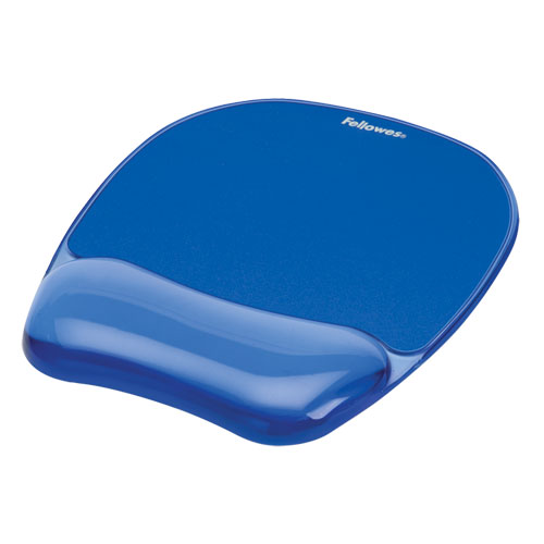 """Gel Crystals Mouse Pad with Wrist Rest, 7.87"""" x 9.18"""", Blue 