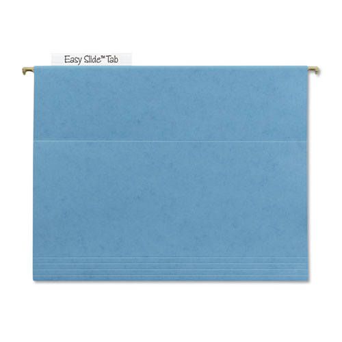 TUFF Hanging Folders with Easy Slide Tab, Letter Size, 1/3-Cut Tab, Blue, 18/Box