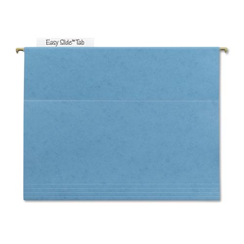 TUFF Hanging Folders with Easy Slide Tab, Letter Size, 1/3-Cut Tab, Blue, 18/Box | by Plexsupply