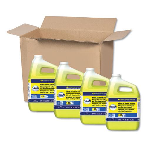 Manual Pot/Pan Dish Detergent, Lemon, 4/Carton