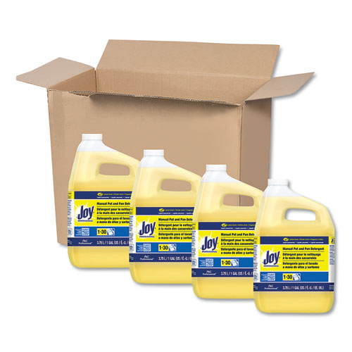 Dishwashing Liquid, Lemon Scent, One Gallon Bottle, 4/Carton