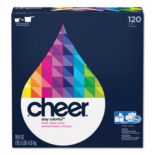 Cheer® Powder Laundry Detergent, Fresh Clean Scent, 169oz Box, 2/Carton